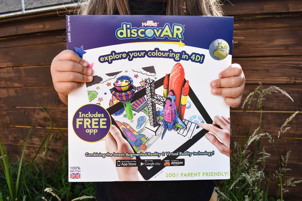 Combining colouring in & virtual reality with Mardles DiscovAR | Review