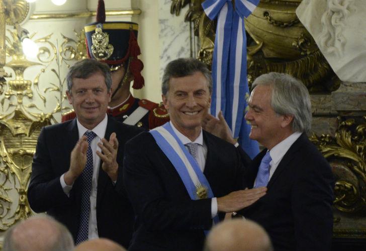 Mauricio Macri, en el acto de asunción. FOTO: DyN.