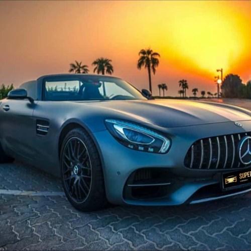 Mercedes AMG GT Roadster rent Dubai,luxury car rental dubai online