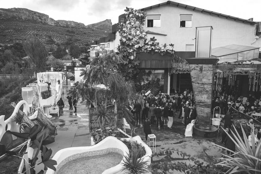 patio del hotel ACG desde la terraza de arriba, boda, Los Villares, Jaen, Supercastizo Foto y video