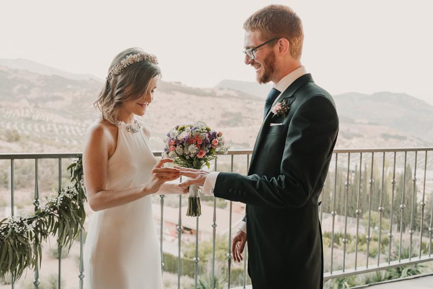 intercambio de anillos ceremonia civil