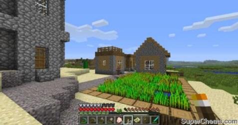 minecraft pe how to build a npc village house