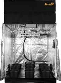 SuperRoom 5 x 5 LED Soil Grow Room - Indoor Grow Setup