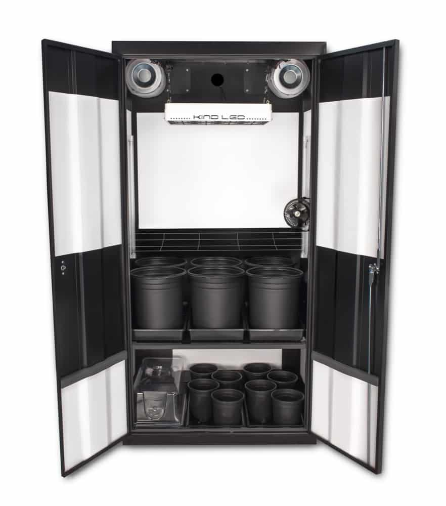 Deluxe 30 LED Soil Grow Cabinet  SuperCloset