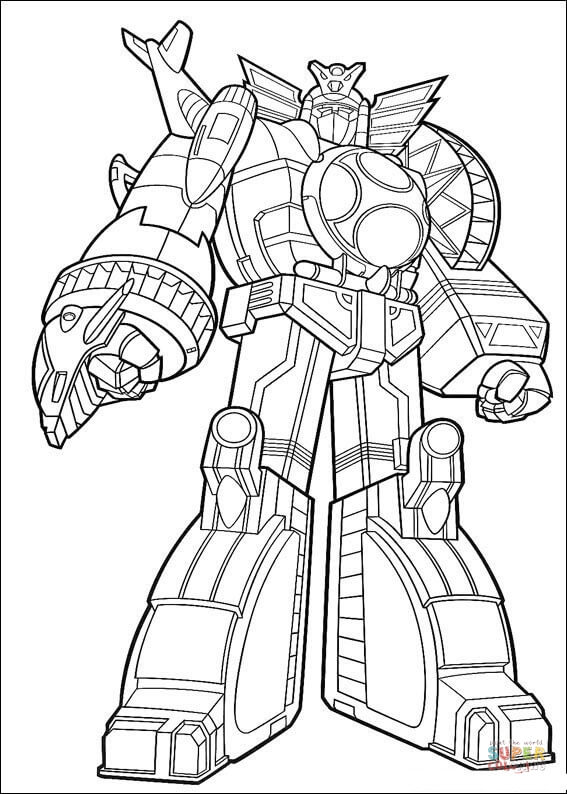 Megazord Coloring Pages : megazord, coloring, pages, Power, Ranger, Megazord, Coloring, Printable, Pages