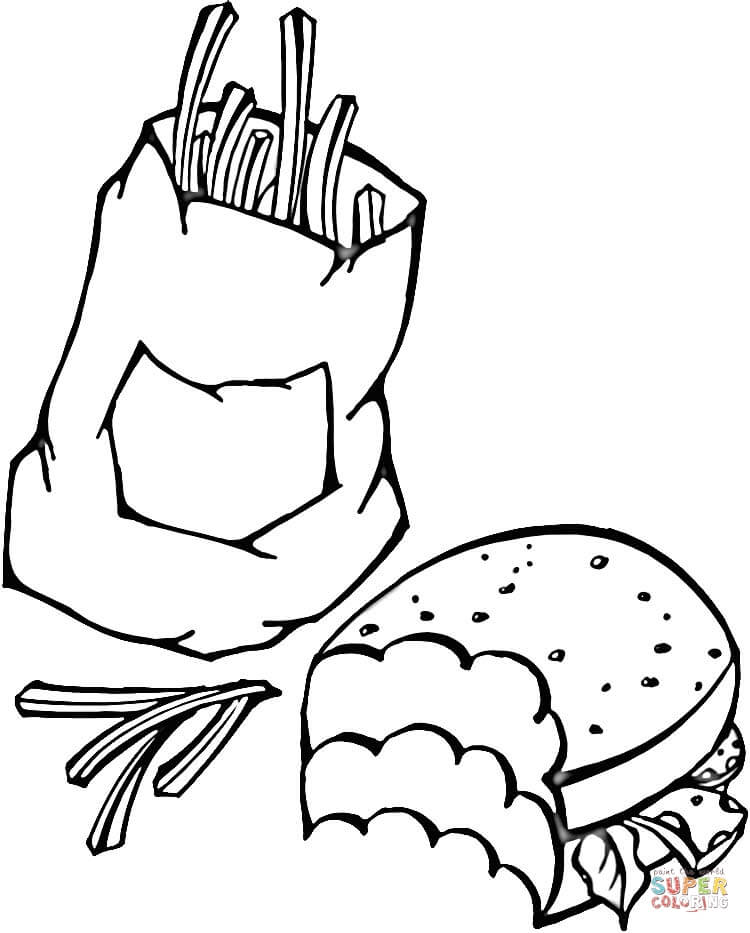 Fast Food Coloring Pages : coloring, pages, Coloring, Printable, Pages