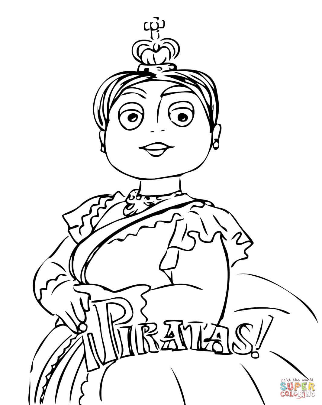 Queen Victoria Coloring Page