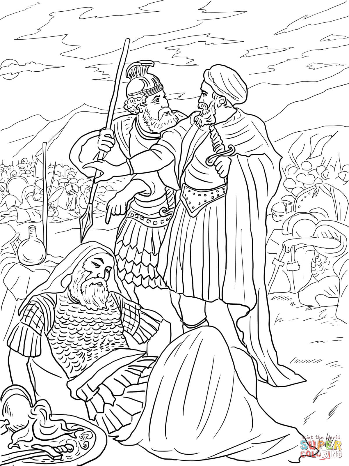 King Saul Coloring Page : coloring, David, Spares, Coloring, Printable, Pages