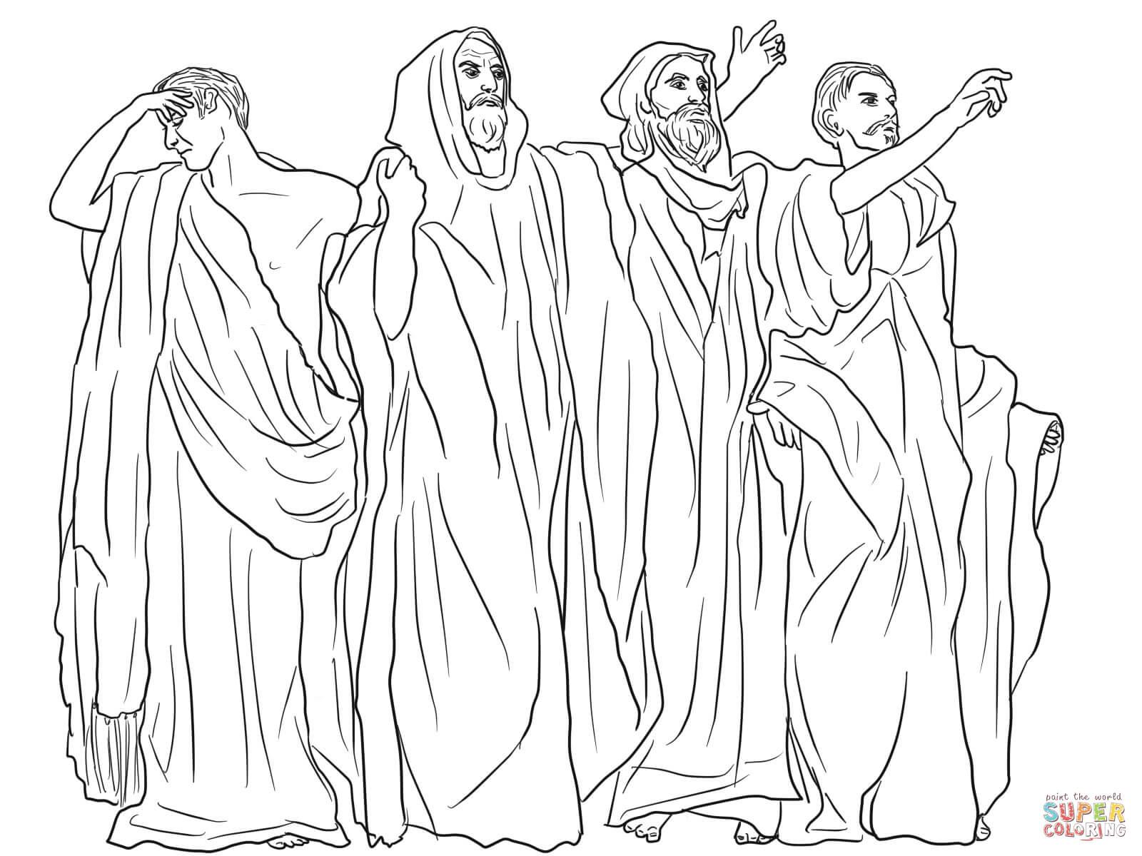 Micah, Haggai, Malacchi, and Zechariah Coloring page