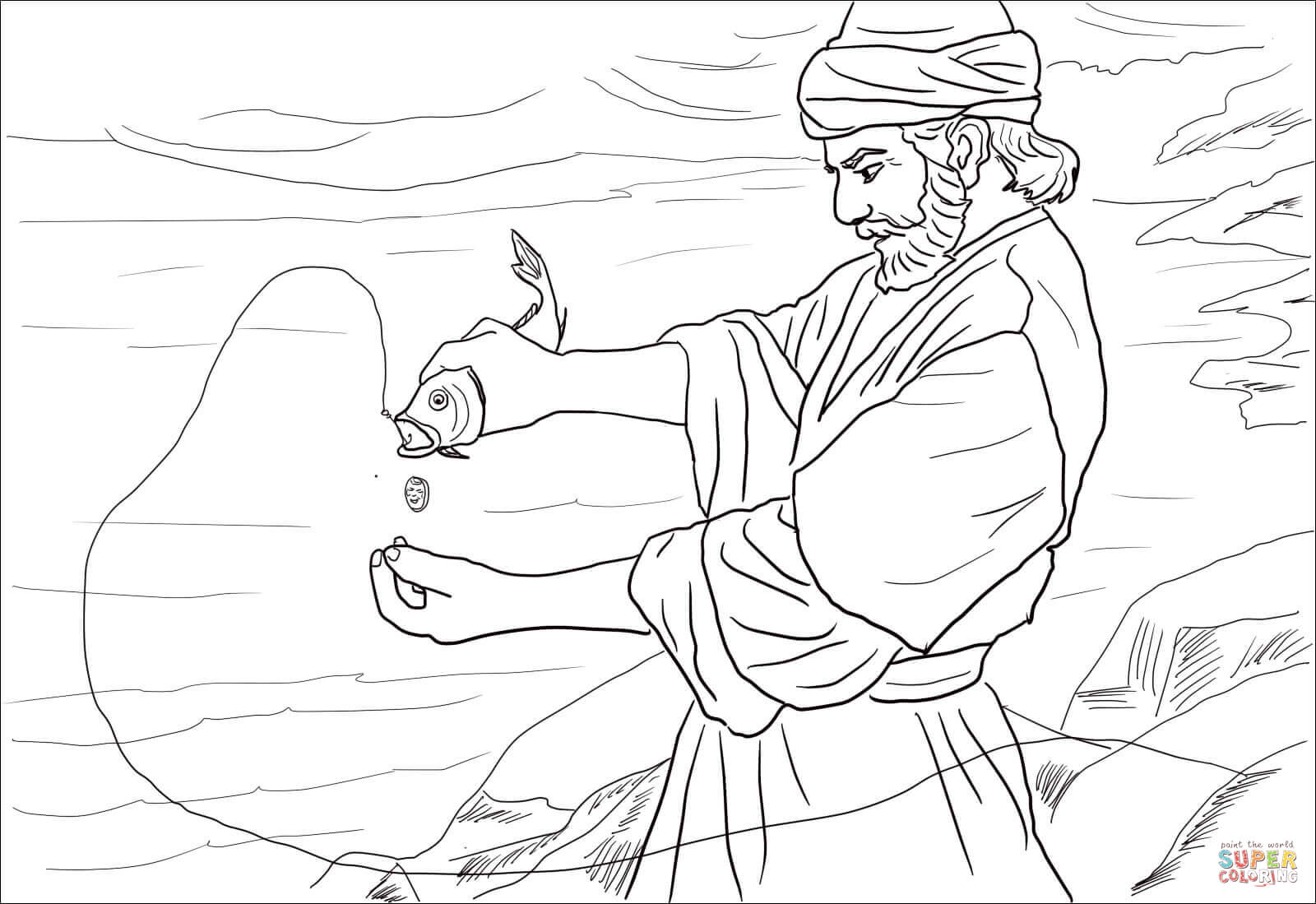 Coin In Fish Moth Coloring Page