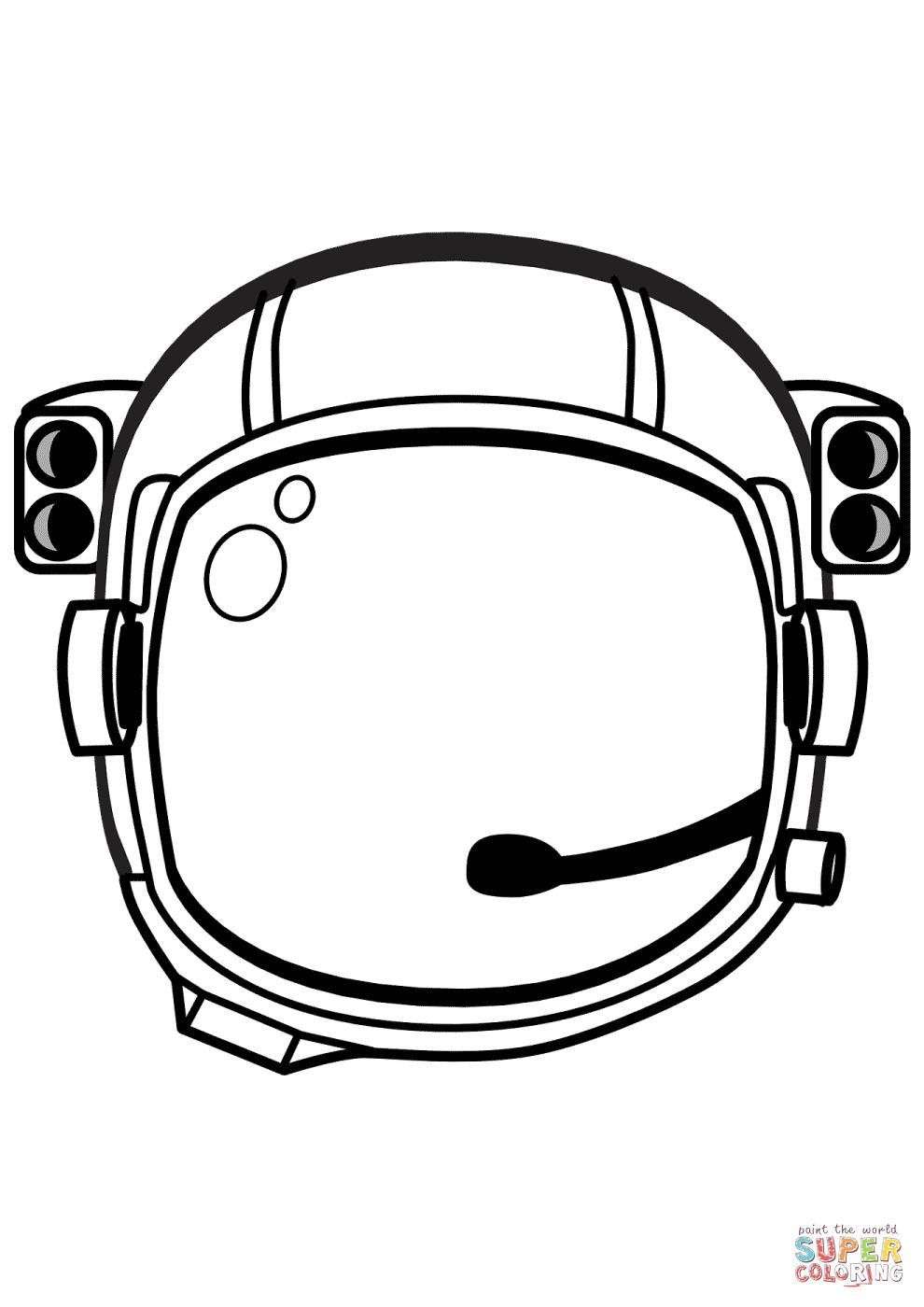 Astronaut Helmet Drawing : astronaut, helmet, drawing, Astronaut, Helmet, Coloring, Printable, Pages
