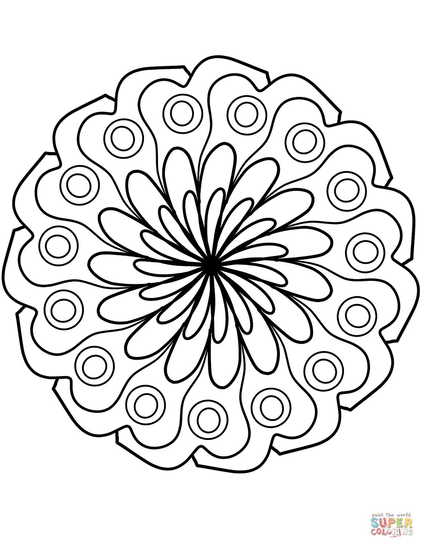 Disegni Di Fiori Semplici Da Colorare : disegni, fiori, semplici, colorare, Disegno, Mandala, Decorazione, Fiori, Semplici, Colorare, Disegni, Stampare, Gratis