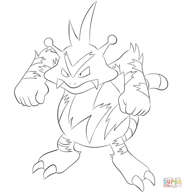 electabuzz coloring page free