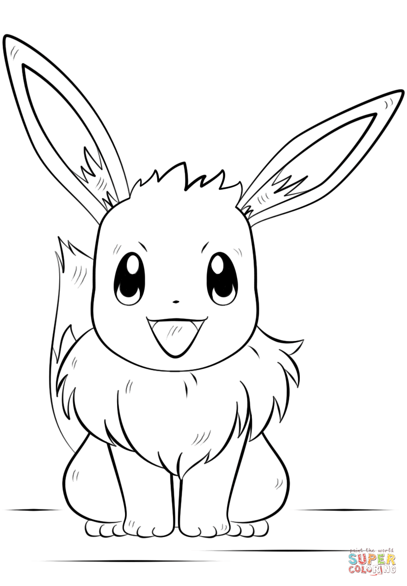 Pokemon Coloring Pages Eevee : pokemon, coloring, pages, eevee, Eevee, Pokemon, Coloring, Printable, Pages