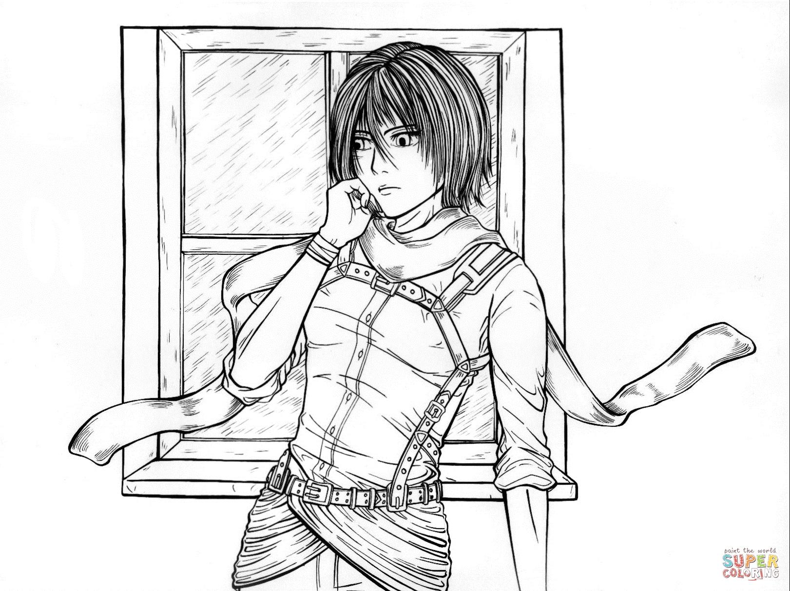 Mikasa Ackerman From Manga Series Shingeki No Kyojin