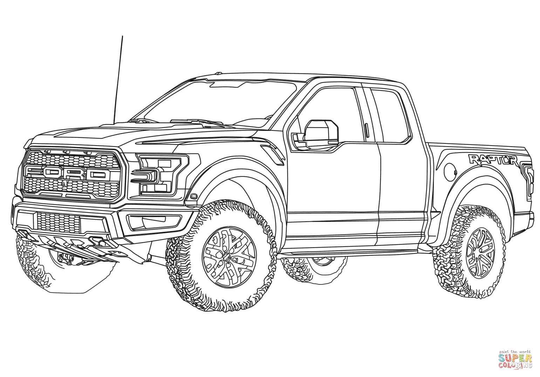 Desenho De Ford F 150 Raptor Para Colorir