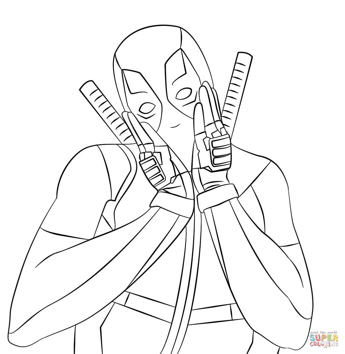 5600 Top Deadpool Spiderman Coloring Pages  Images