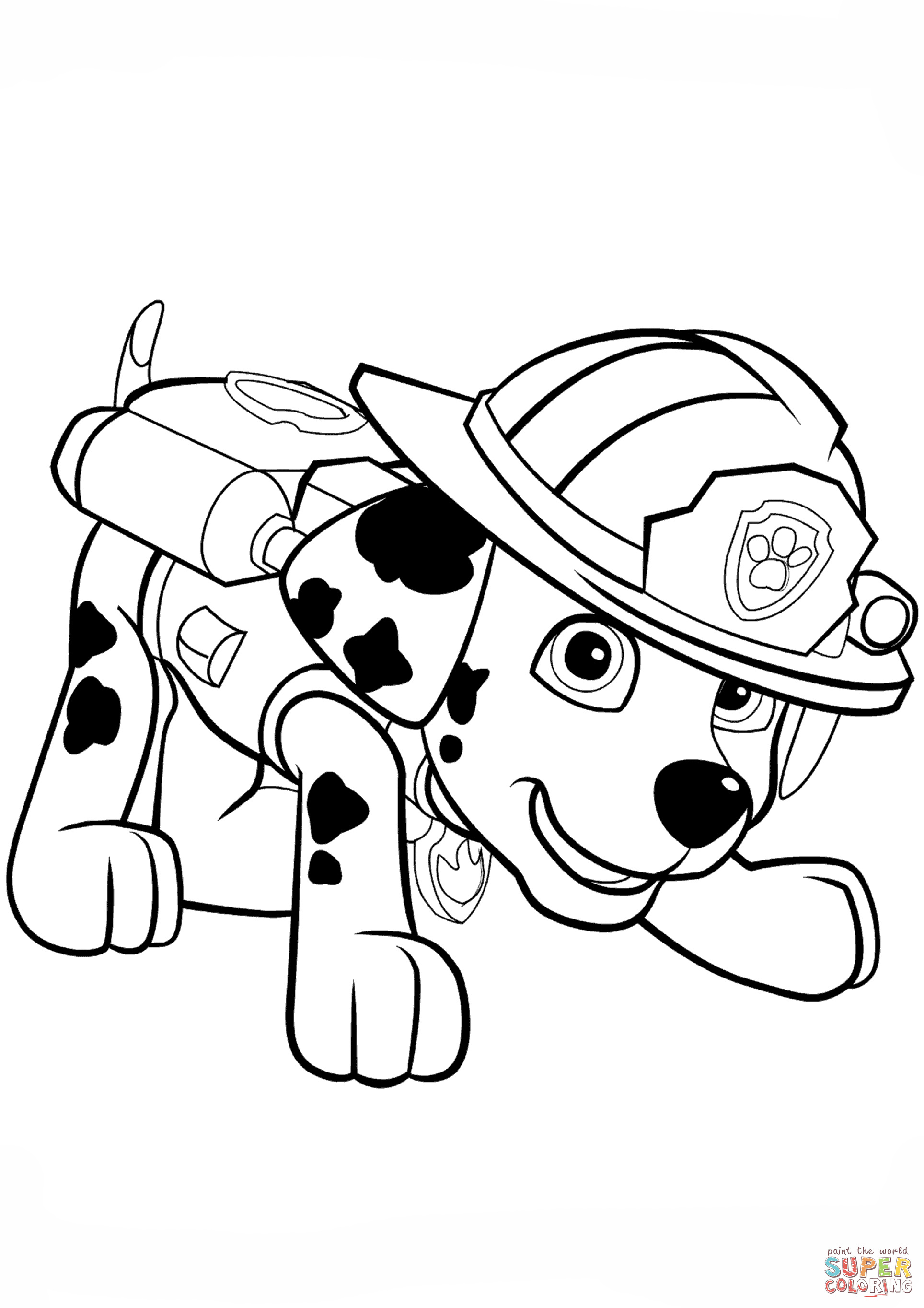 Paw Patrol Coloring Pages Marshall : patrol, coloring, pages, marshall, Patrol, Marshall, Puppy, Coloring, Printable, Pages