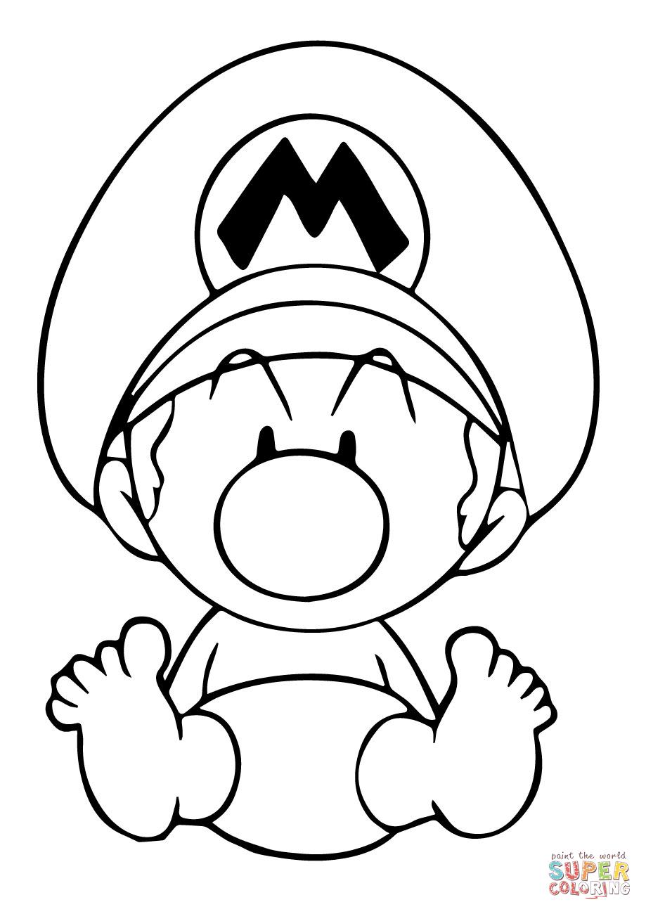 Baby Mario Coloring Pages : mario, coloring, pages, Mario, Coloring, Printable, Pages