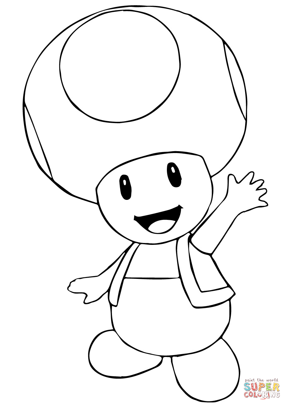 Toad Coloring Pages : coloring, pages, Mario, Bros., Coloring, Printable, Pages
