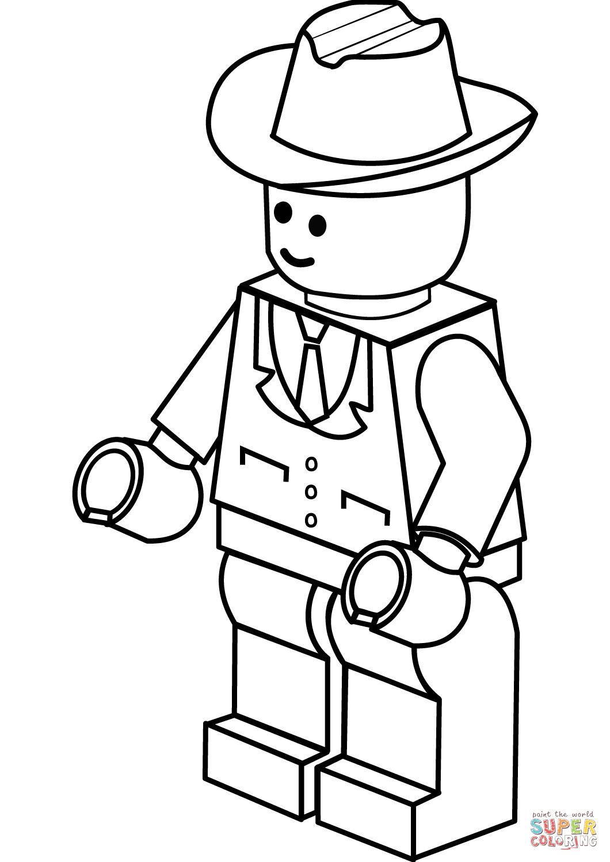 Cowboy Hat Color Page : cowboy, color, Cowboy, Coloring, Printable, Pages