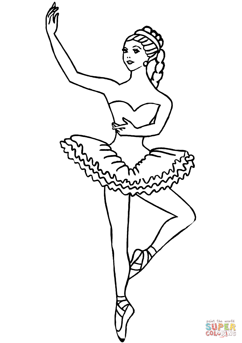 Ballerina Coloring Sheet : ballerina, coloring, sheet, Ballerina, Coloring, Printable, Pages