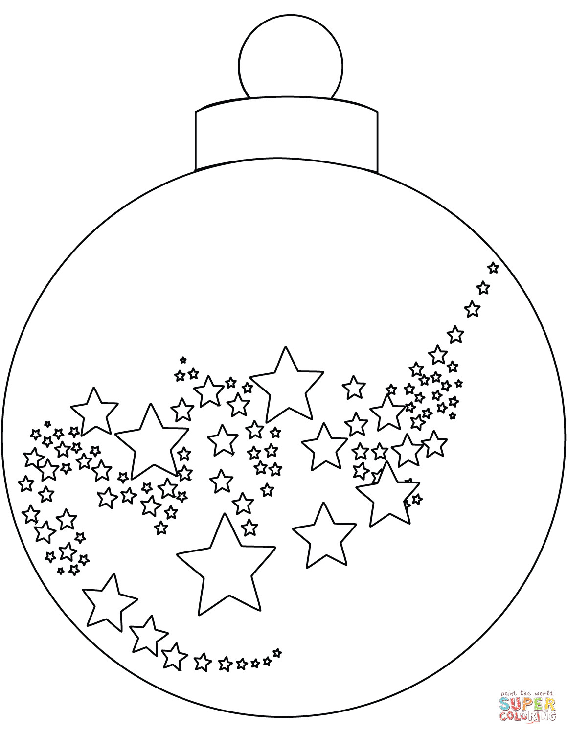 Christmas Ornaments Coloring Page Christmas Ornament Coloring