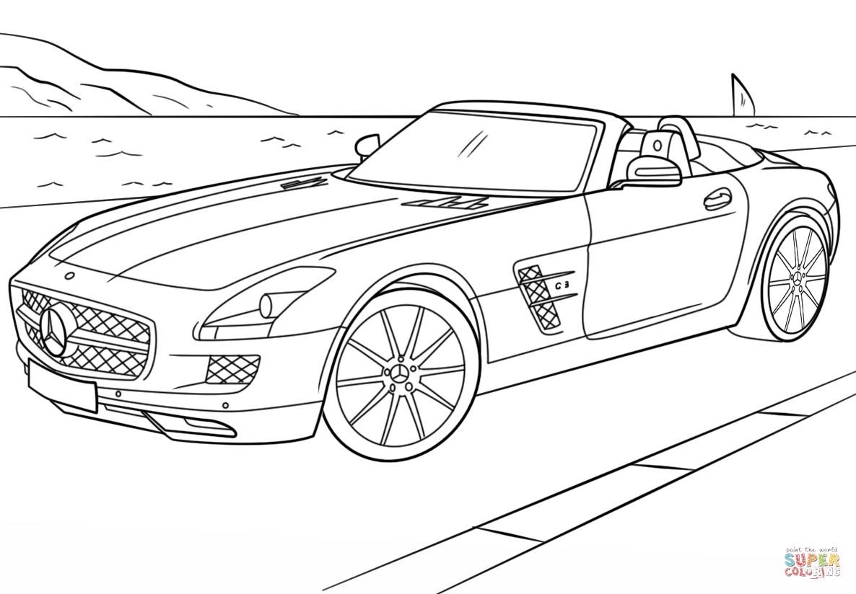 Ausmalbilder Mercedes Stern