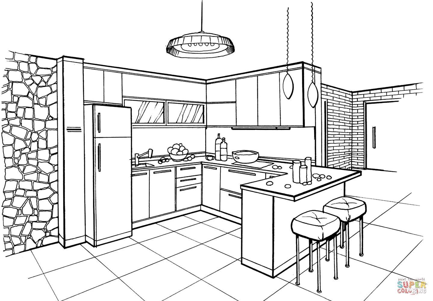 Dibujos De Recetas De Cocina Para Ninos Para Colorear: Dibujo Cocina Infantil