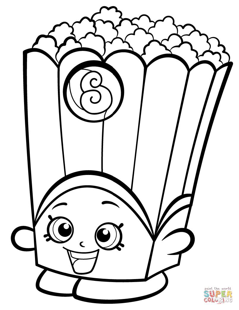 Popcorn Colouring Pages : popcorn, colouring, pages, Poppy, Shopkin, Coloring, Printable, Pages
