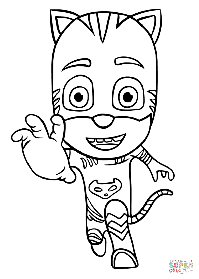 Catboy Coloring Page : catboy, coloring, Catboy, Masks, Coloring, Printable, Pages