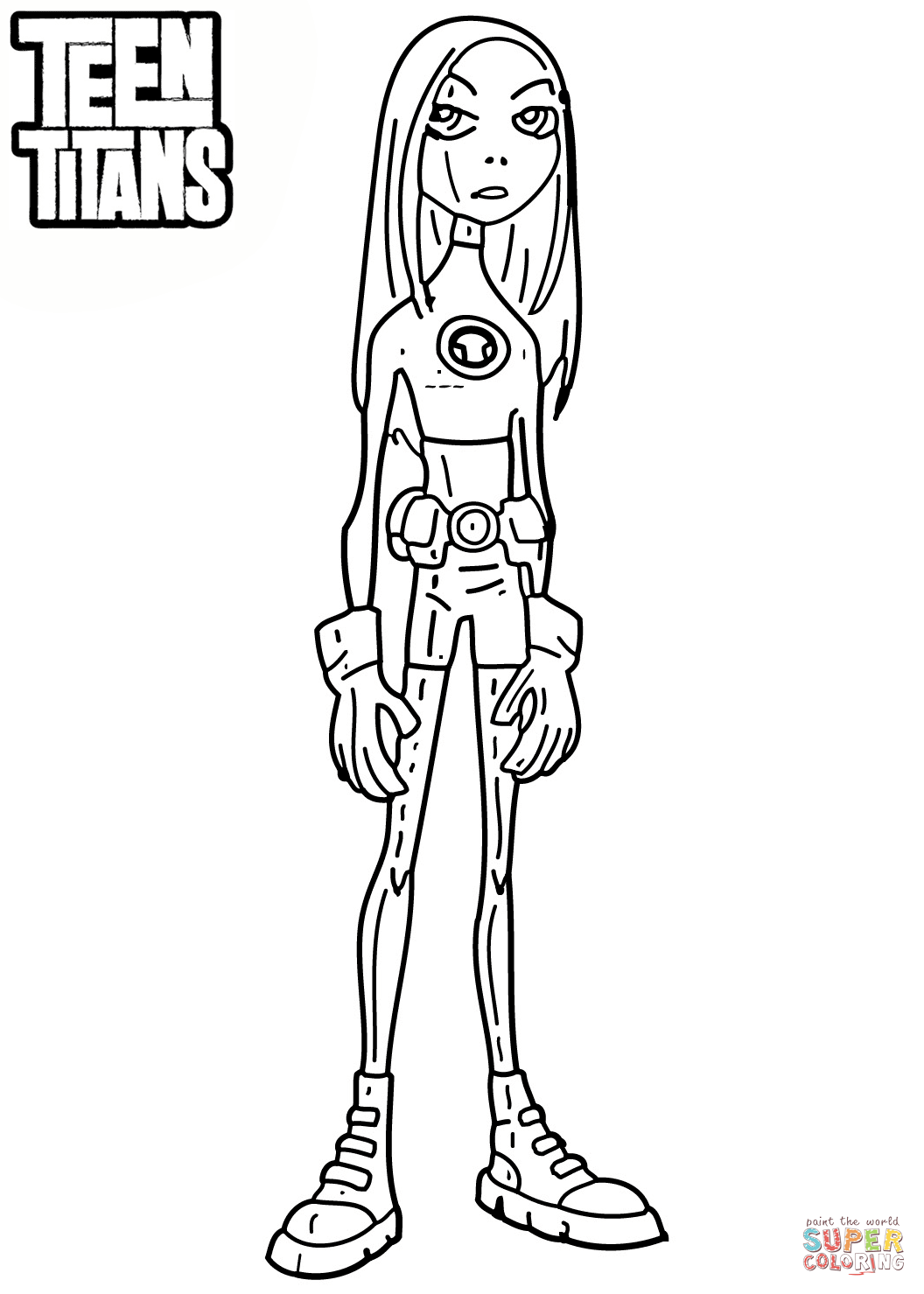 Teen Titan Coloring Pages : titan, coloring, pages, Titans, Terra, Coloring, Printable, Pages