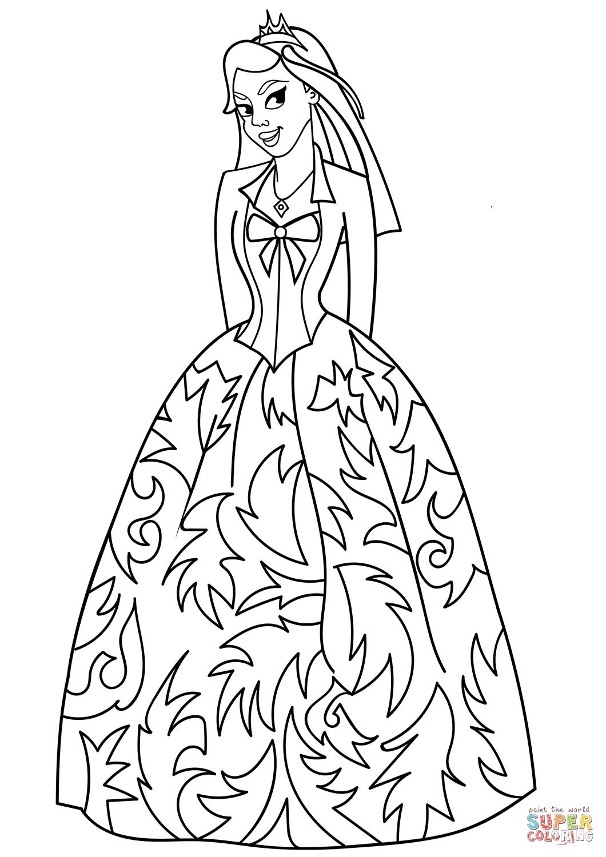 Princess Di Coloring Page Disegno Di Principessa Sofia Da Colorare