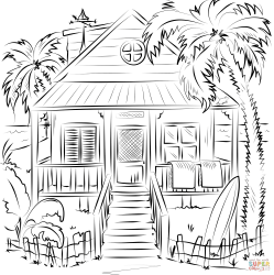 coloring pages beach printable drawing colorings crafts tutorials