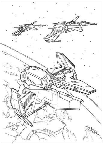 X Wing Coloring Page : coloring, Eta-2, Starfighter, X-wing, Coloring, Printable, Pages