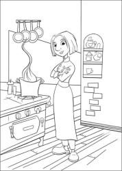 Dibujo de Colette En La Cocina para colorear Dibujos para colorear imprimir gratis