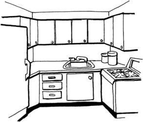Dibujo de Cocina para colorear Dibujos para colorear imprimir gratis