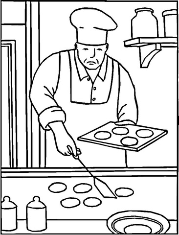 Baking Coloring Pages : baking, coloring, pages, Baking, Cookies, Coloring, Printable, Pages