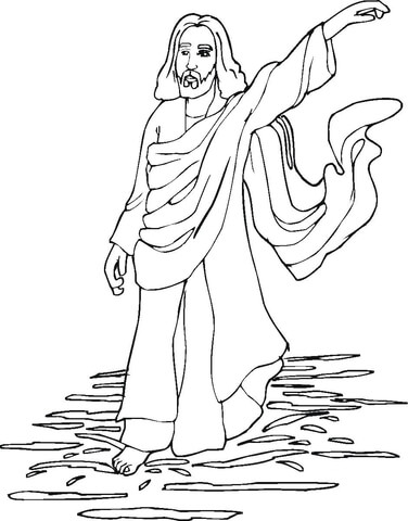 Miracles Of Jesus Coloring Pages : miracles, jesus, coloring, pages, Miracles, Jesus, Coloring, Printable, Pages