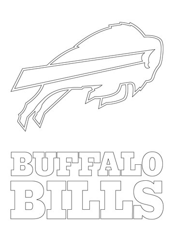 Buffalo Bills Coloring Pages : buffalo, bills, coloring, pages, Buffalo, Bills, Coloring, Printable, Pages