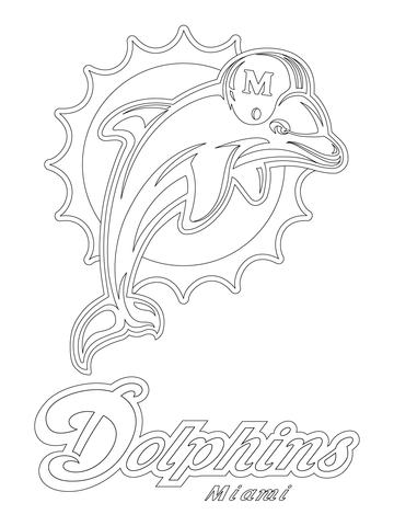 Miami Dolphins Coloring Pages : miami, dolphins, coloring, pages, Miami, Dolphins, Coloring, Printable, Pages
