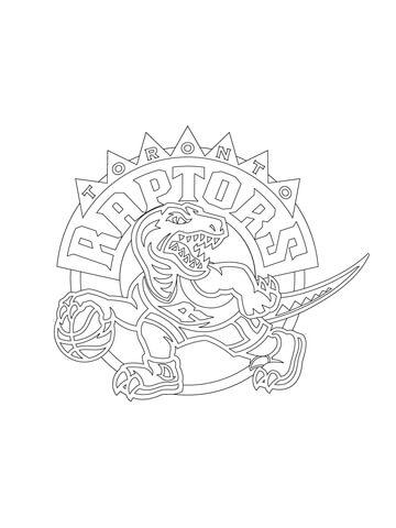 Raptor Coloring Pages : raptor, coloring, pages, Toronto, Raptors, Coloring, Printable, Pages