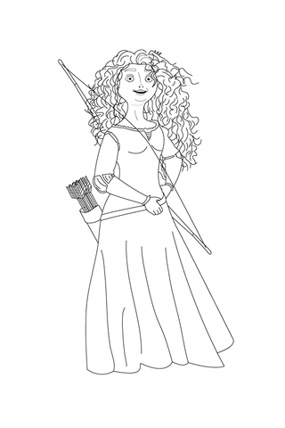 Merida Coloring Pages : merida, coloring, pages, Merida, Shows, Arrows, Coloring, Printable, Pages