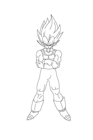 Vegeta Coloring Pages : vegeta, coloring, pages, Vegeta, Angry, Coloring, Printable, Pages