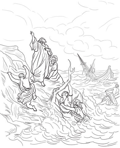 Paul's First Missionary Journey Coloring Page : paul's, first, missionary, journey, coloring, Apostle, Shipwrecked, Coloring, Printable, Pages