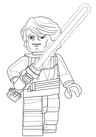 Lego Star Wars Drawing : drawing, Anakin, Skywalker, Coloring, Printable, Pages