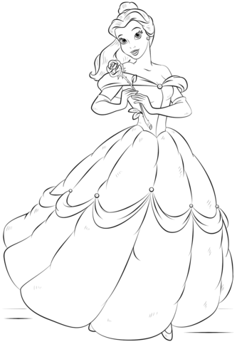 Belle Coloring Pages : belle, coloring, pages, Belle, Coloring, Printable, Pages