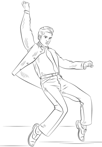 Elvis Colouring Pages - Free Colouring Pages