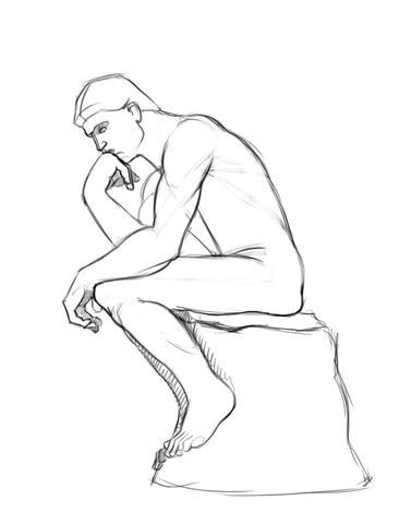 Le Penseur De Rodin Dessin : penseur, rodin, dessin, Coloriage, Penseur, Auguste, Rodin, Coloriages, Imprimer, Gratuits