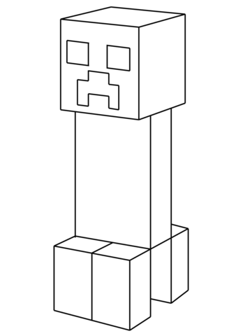 Minecraft Coloring Pages Creeper : minecraft, coloring, pages, creeper, Creeper, Coloring, Printable, Pages